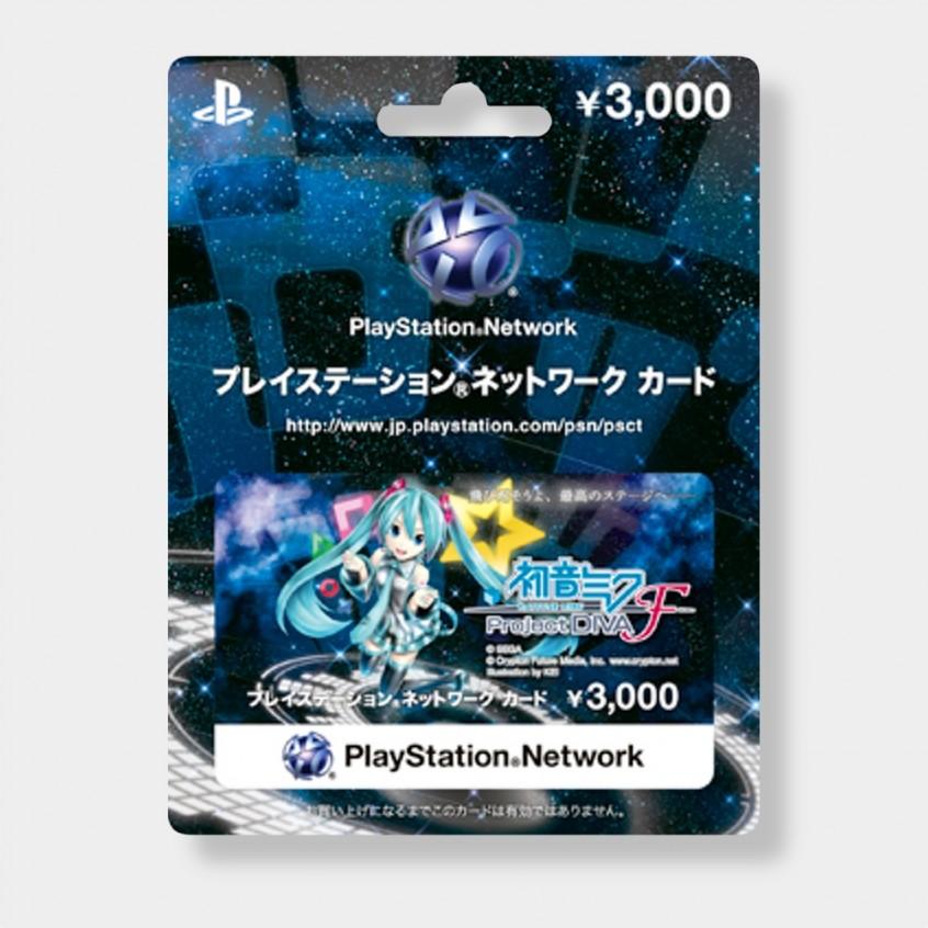PlayStation Network Card Hatsune Miku 3000 JPY